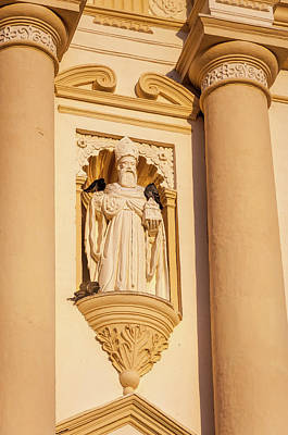 Photograph - Architectural Detail At Saint James Cathedral In Antigua by Daniela Constantinescu