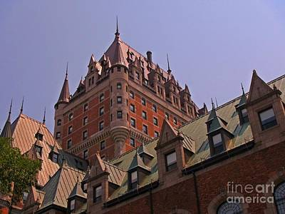 Architectural Details Of The Chateau Frontenac Original