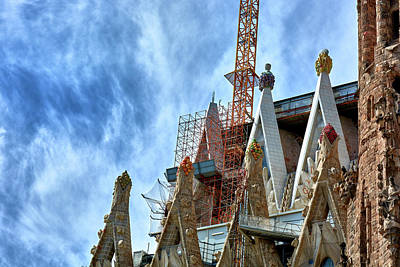 Architectural Details Of The Sagrada Familia Art Print