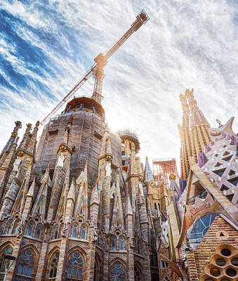 Photograph - Architectural Details Of The Sagrada Familia In Barcelona by Eduardo Jose Accorinti