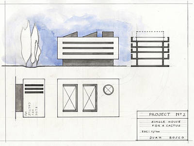 Floors Painting - Architectural Drawing by Juan Bosco