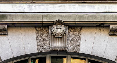 Photograph - Architectural Keystone Brackets Style Decorated by Jacek Wojnarowski