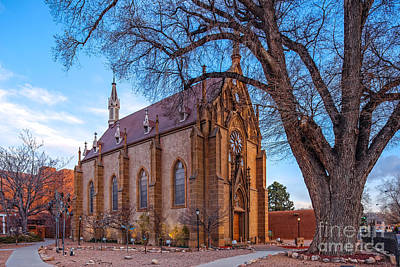 Religious Art Photograph - Architectural Photograph Of The Loretto Chapel In Santa Fe New Mexico by Silvio Ligutti