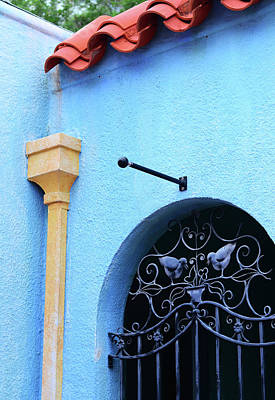 Painting - Architectural Photography Art - Blue Mediterranean - Sharon Cummings by Sharon Cummings