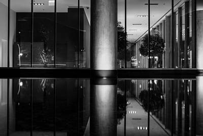 Photograph - Architectural Reflecting Pool by John McArthur