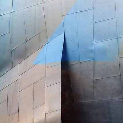 Architectural Abstract Photograph - Architectural Reflections 4619h by Carol Leigh