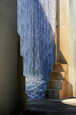 Photograph - Architectural Waterfall by Angela Rath