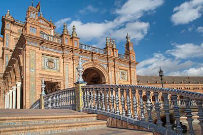 Photograph - Architecture Complex Plaza De Espana In Seville by Jenny Rainbow