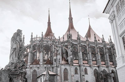 Photograph - Architecture Details Of St. Barbara Church. Kutna Hora by Jenny Rainbow