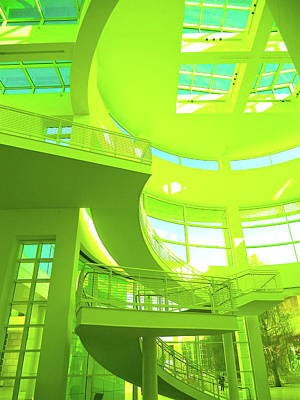 Photograph - Green Splash Architecture by Monique's Fine Art