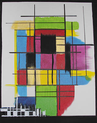 Abstractabstract Painting - Architecture by Karla Britfeld