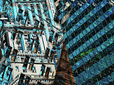 Photograph - Architecture Merge by David Pantuso