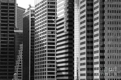 Architecture Nyc Bw Art Print by Chuck Kuhn