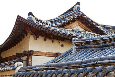 Photograph - Architecture Of Bukchon Hanok Village  by James BO Insogna