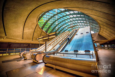 Staircase Mixed Media - Architecture Of Canary Wharf by Svetlana Sewell