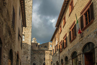 Photograph - Architecture Of San Gimignano, Italy by Radoslav Nedelchev
