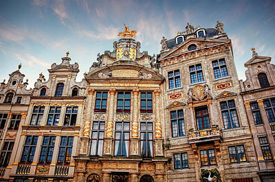 Marketplace Wall Art - Photograph - Architecture Of The Grand Place Brussels  by Carol Japp