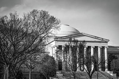 Photograph - Architecture Of Washington Dc In Black And White by Gregory Ballos