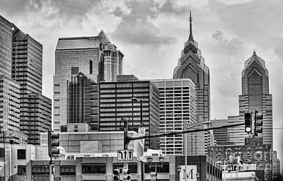Architecture Philadelphia Bw Art Print by Chuck Kuhn