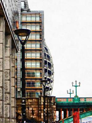 Photograph - Architecture Profile Towards Southwark Bridge by Dorothy Berry-Lound