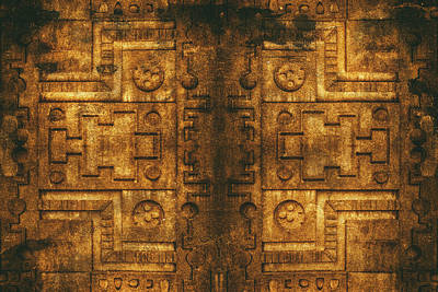Photograph - Architecture Wall Of Aztec Ancestary by John Williams