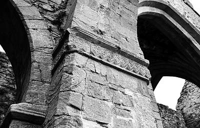 Photograph - Architecural Detail At Irish Jerpoint Abbey County Kilkenny Ireland Black And White by Shawn O'Brien