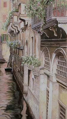 Canal Street Painting - architetture di  Venezia by Guido Borelli