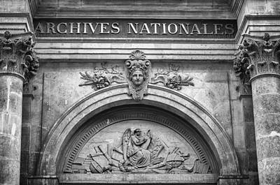 Photograph - Archives Nationales by Pablo Lopez