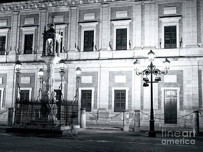 Photograph - Archivo General De Indias At Night by John Rizzuto