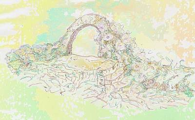 Drawing - Archway 1 by Julia Woodman