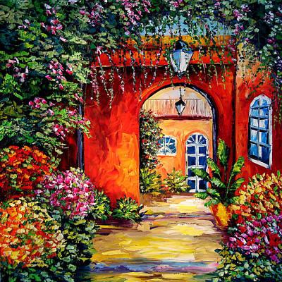 Sasik Painting - Archway Garden by Beata Sasik