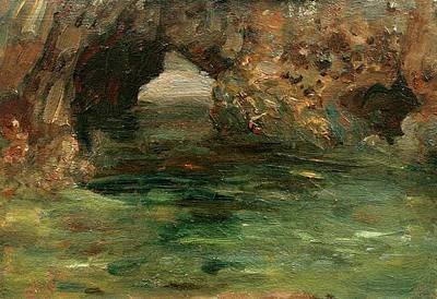 Painting - Archway In A Rock Pool  by Henry Scott Tuke