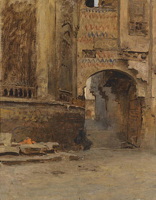 Painting - Archway In Cairo by Leopold Muller