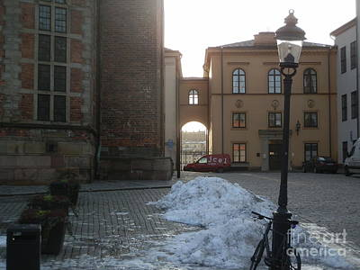 Europe Drawing - Archway In Stockholm by Margaret Brooks