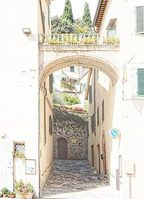 Photograph - Archway Leaving Main Square Cetona Tuscany by Dorothy Berry-Lound