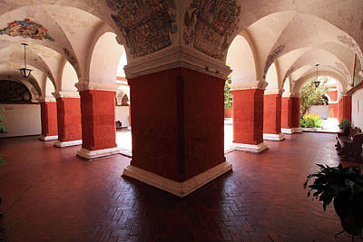 Photograph - Archway Paintings At Santa Catalina Monastery by Aidan Moran