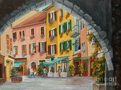 Annecy France Art Gallery Painting - Archway To Annecy's Side Streets by Charlotte Blanchard