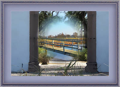 Mixed Media - Archway To Wooden Bridge Montage by Clive Littin