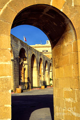 Valletta Photograph - Archway Upper Barracca Gardens by Thomas R Fletcher