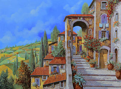 Vacation Painting - Arco Dopo Le Scale by Guido Borelli