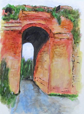 Painting - Arco Felice, Revisited by Clyde J Kell