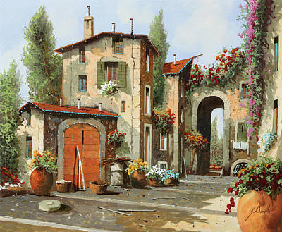 Cityscenes Painting - Arco Finale by Guido Borelli