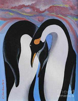 Painting - Arctic Amour by Jean Clarke