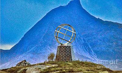 Photograph - Arctic Circle Monument by Larry Mulvehill