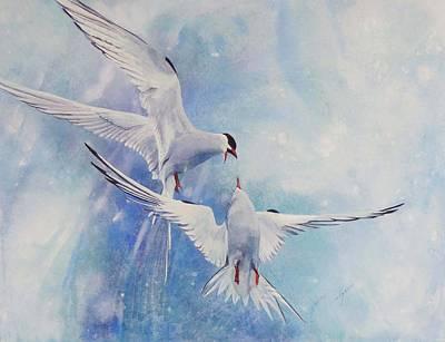 Wall Art - Painting - Arctic Dance by Nancy Delgado