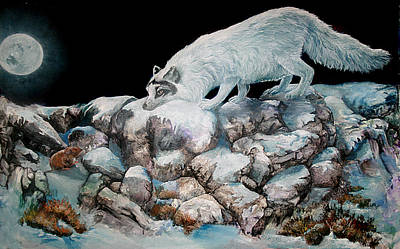 Art Print featuring the painting Arctic Encounter by Sherry Shipley