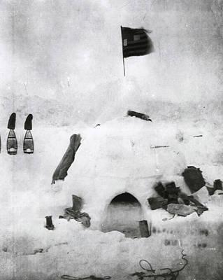 Igloo Photograph - Arctic Explorer Robert Pearys Igloo by Robert E Peary