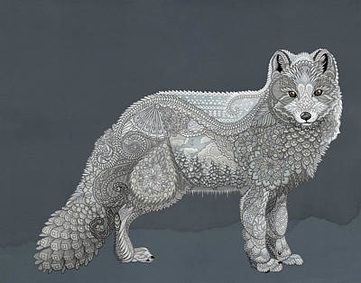 Digital Art - Arctic Fox by ZH Field