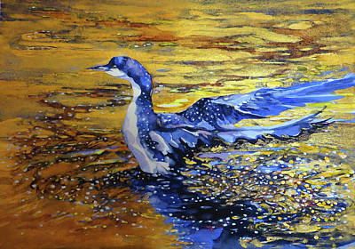 Painting - Arctic Loon by Beverly Berwick