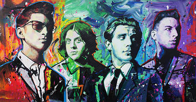 Painting - Arctic Monkeys by Richard Day